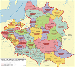 Claimed borders of the Polish–Lithuanian–Ruthenian Commonwealth during the January Uprising