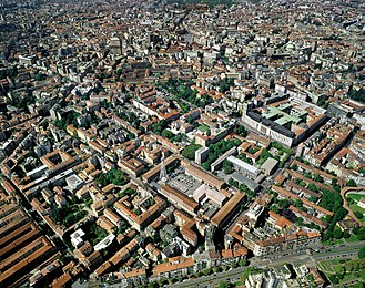 Policlinico of Milan - Policlinico's aerial view, before the demolition started between 2010 and 2011.