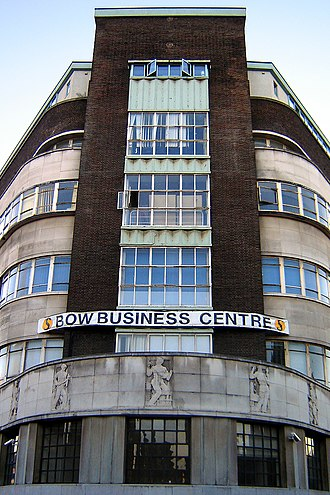 Bow, London - Poplar Town Hall at the junction of Bow Road and Fairfield Road