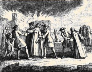 Port-Royal-des-Champs Abbey - Nuns being forcibly removed from the abbey in 1709.