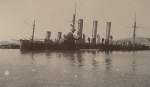 Russian cruiser Pallada (1899) - Pallada sunk at Port Arthur