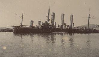Russian cruiser Pallada (1899) - Pallada sunk at Port Arthur