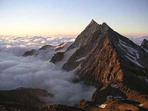 Portjengrat - View from the south ridge of the Weissmies