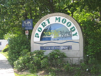 Port Moody - Port Moody's welcome sign.