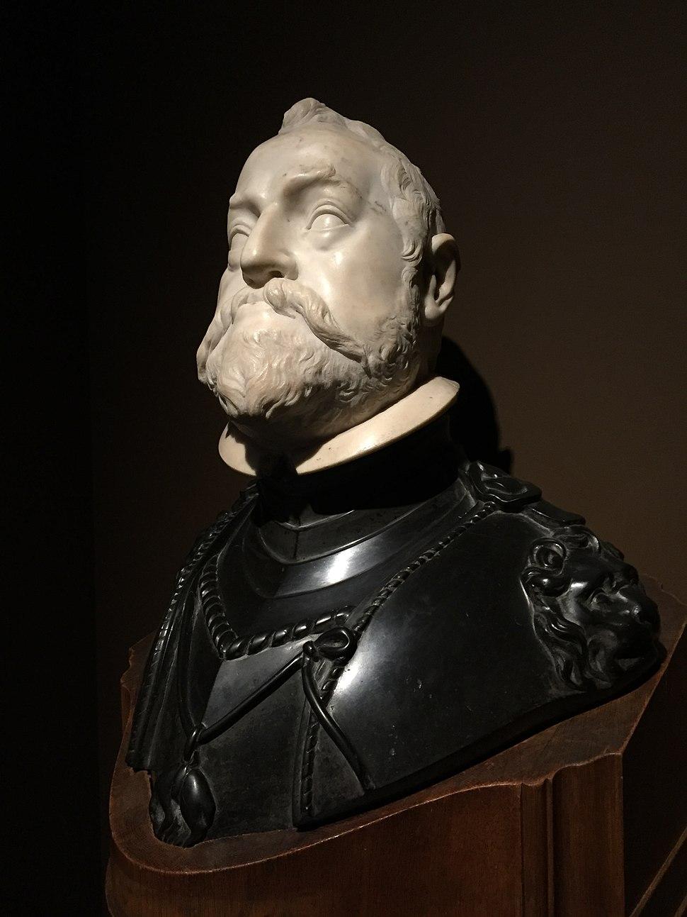 Portrait bust of Rudolf II, Holy Roman Emperor, Antwerp City Hall, Belgium - 20150629-03
