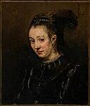 Portrait d'une jeune femme par Rembrandt vers 1665.jpg