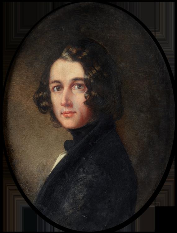 Portrait of Charles John Huffman Dickens