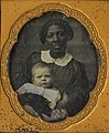Portrait of an African American woman with a white baby, ca. 1850s (cropped).jpg