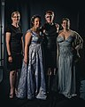 Portrait photoshoot at Worldcon 75, Helsinki, before the Hugo Awards – Carrie Vaughn, Amal El-Mohtar, Brooke Bolander and Miriam Weinberg.jpg