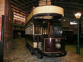 Milestones Museum - Portsmouth electric tramcar at Milestones Museum
