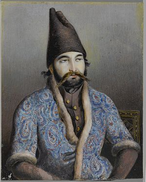 Mohammad Shah Qajar - Possibly Mirza Abolhassan Khan Ghaffari Kashani, Sani ol Molk (active, 1814–1866). Portrait of a Nobleman or Royal Figure (Possibly Muhammad Shah Qajar), first half 19th century. Brooklyn Museum.