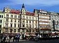 Prag - Ristorante Italiano Buschetto – Budweiser Czech-český Restaurant – Ramada - Palac Knih Luxor - panoramio.jpg