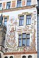 Prague Praha 2014 Holmstad Storch - huset - house med maleri av St. Vaclav - sørsiden - Starometske namesti - 2.JPG