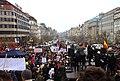 Praha, Václavské náměstí, Demonstrace 2011, zaplněná horní část Václavského náměstí.jpg