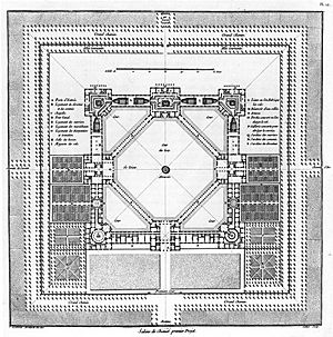 Royal Saltworks at Arc-et-Senans - In 1775, the king rejected Ledoux's first design plan