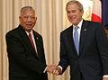 President George W. Bush with Prime Minister Samak Sundaravej.jpg