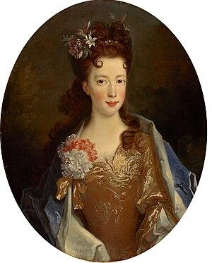 Louisa Maria Stuart - Portrait by Alexis Simon Belle, 1704