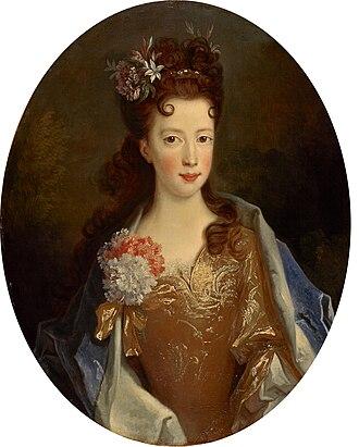 Alexis Simon Belle - Portrait by Belle of Princess Louisa Maria Teresa Stuart, 1704