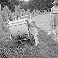 Prinses Christina probeert in haar kinderwagen te klimmen prinses Irene kijkt t, Bestanddeelnr 255-7537.jpg