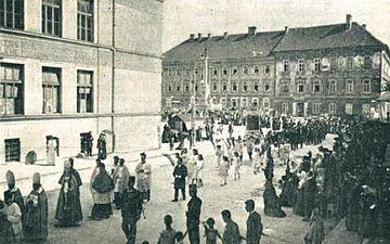 Prošnja procesija za zmago pred cerkvijo Sv. Jakoba v Ljubljani (1).jpg
