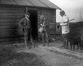 Procter, S. Duncan and Drury at the hut YORYM-S345.jpg