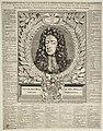 Propagandaprent over Willem III met portret en een chronologisch overzicht van zijn daden vanaf zijn geboorte tot en met het jaar 1696. NL-HlmNHA 53008724.JPG