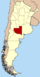 Lage der Provinz La Pampa