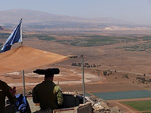 United Nations Disengagement Observer Force - UNDOF position in Mount Bental