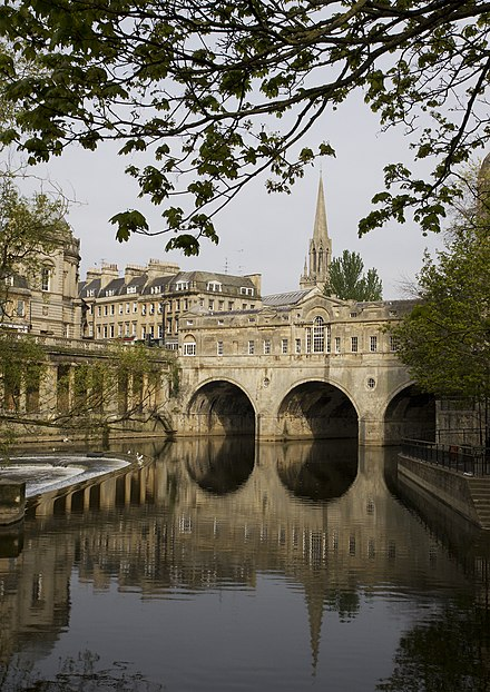Palladian Pulteney Bridge at Bath Pulteney Bridge, Bath 2.jpg