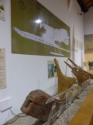 Marsala Ship - Prow and keel of the Punic ship