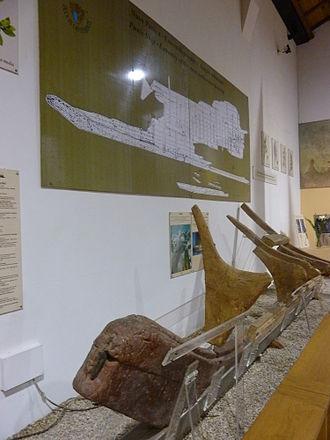 Marsala Ship - Prow and keel of the Punic ship