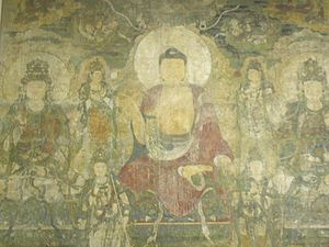 Bhaisajyaguru - The Pure Land of Bhaisajyaguru, a wall mural made circa 1319 AD, Yuan dynasty