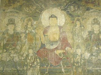 Bhaisajyaguru - The Pure Land of Bhaisajyaguru, a wall mural made circa 1319 CE, Yuan dynasty