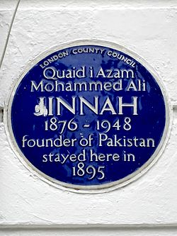 Quaid i azam mohammed ali jinnah 1876 1948 founder of pakistan stayed here in 1895