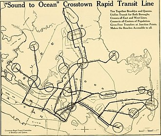 IND Crosstown Line - 1920 proposal