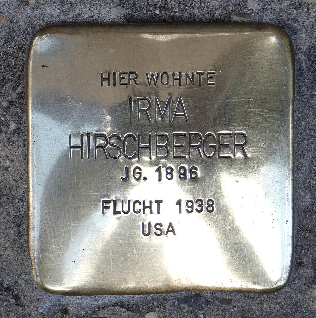 Rüdesheim am Rhein Stolperstein Steingasse 9 Irma Hirschberger.jpg