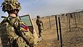 RAF Police Monitoring the Main Entry Point at Camp Bastion, Afghanistan MOD 45157238.jpg