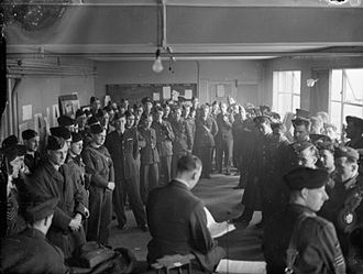 No. 149 Squadron RAF - 149 Squadron aircrew before being briefed for a raid at RAF Mildenhall