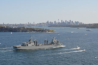 Spanish oiler Cantabria - Cantabria entering Sydney Harbour in October 2013