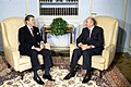RIAN archive 693673 Mikhail Gorbachev and Ronald Reagan talk.jpg