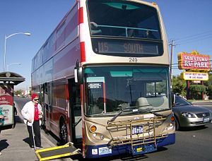 The Deuce (transit bus service) - A Deuce bus on the Nellis route 115 loading a wheelchair