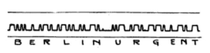 Syphon recorder - Example of transatlantic radiotelegraph message recorded on paper tape by a siphon recorder at RCA's receiving center in New York City in 1920.
