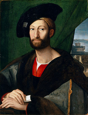 Baldassare Castiglione - Giuliano de' Medici, defender of women in Castiglione's Book of the Courtier, painted by Raphael.
