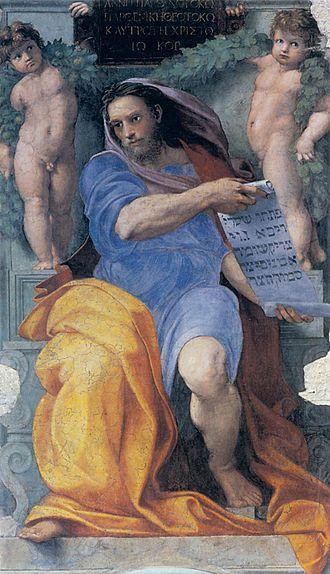 The Prophet Isaiah (Raphael) - Image: Raffaello, profeta isaia