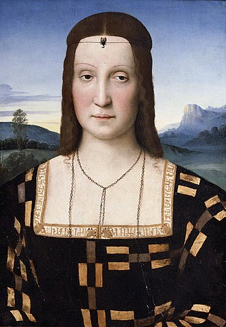 Elisabetta Gonzaga - Portrait of Elisabetta Gonzaga (c. 1504), attributed to Raphael.