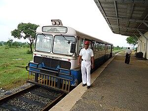 Batticaloa line - Rail bus in Punani railway station