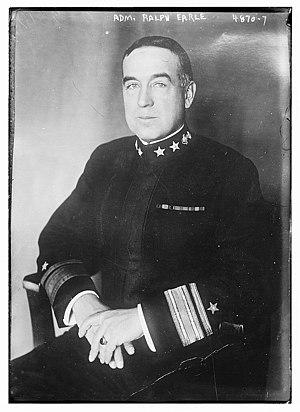 Ralph Earle (American naval officer) - Earle in 1919