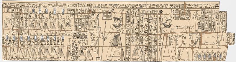 拉美西姆国王名单手绘图 via 维基百科