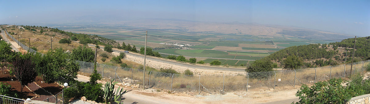 Ramot Naftali Israel  City pictures : Panorama taken from Ramot Naftali overlooking the Hula Valley and ...