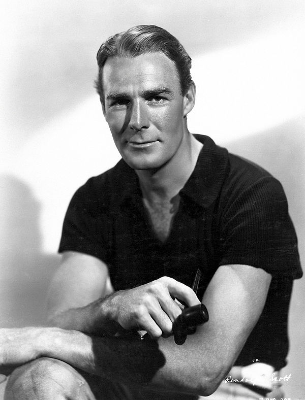 Photo Randolph Scott via Wikidata